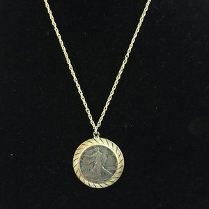 Jewelry - Vintage 1941 Liberty Silver Half Dollar Necklace